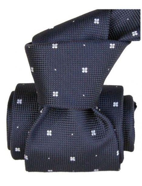 Cravate Segni Disegni LUXE, Faite main, Bolatte Bleu Marine Segni et Disegni Cravates