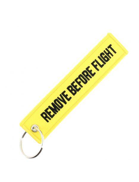 Porte clés Yellow REMOVE BEFORE FLIGHT