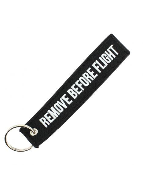 Porte clés Black et jaune REMOVE BEFORE FLIGHT
