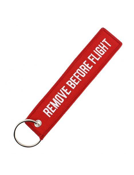 Porte clés REMOVE BEFORE FLIGHT Rouge