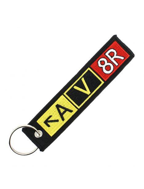 Porte clés A V 8R Noir