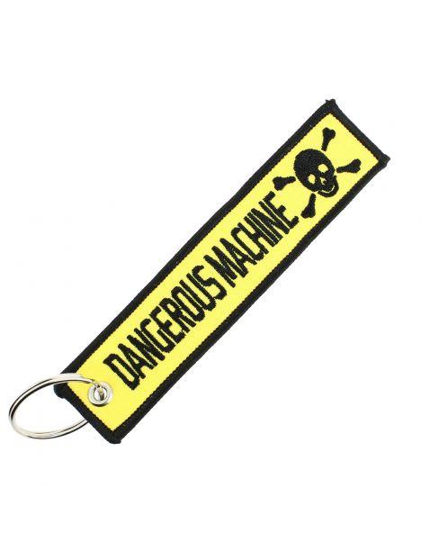 Porte clés DANGEROUS MACHINE Jaune