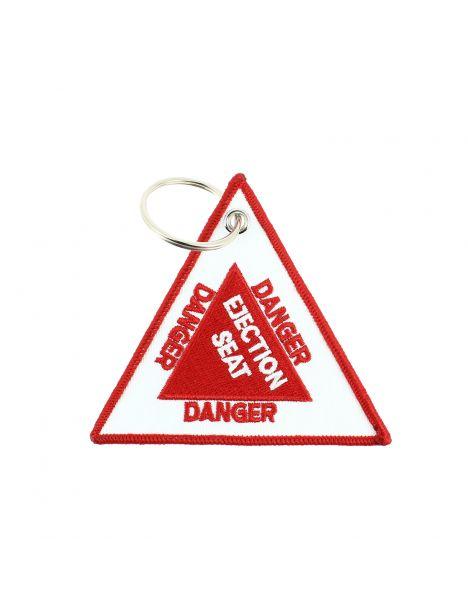 Porte clés DANGER - EJECTION SEAT Rouge