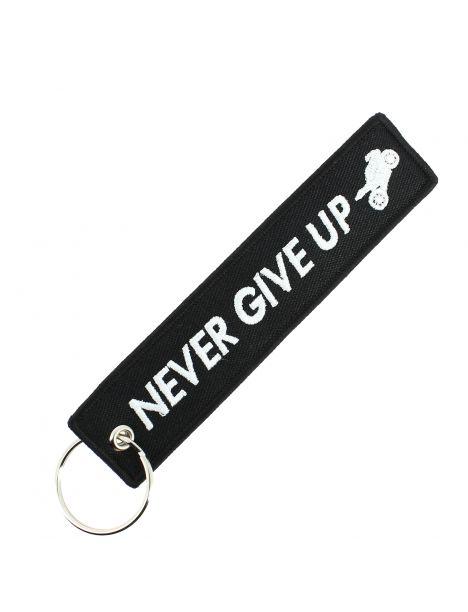 Porte clés NEVER GIVE UP Noir