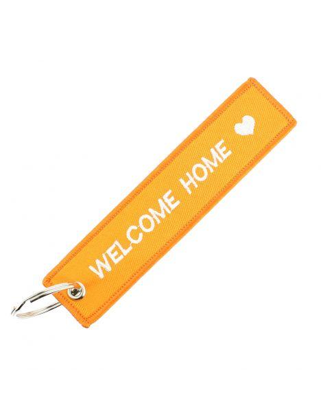 Porte clés WELCOME HOME Orange