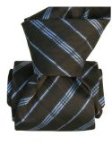 Cravate Segni Disegni LUXE, Faite main, Coventry, Gris Segni et Disegni Cravates