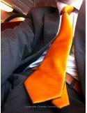 Cravate CLJ, Nimes, Orange Clj Charles Le Jeune Cravates