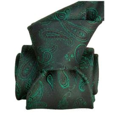 Cravate Segni Disegni LUXE, Faite main, Alexandrie Vert Segni et Disegni Cravates