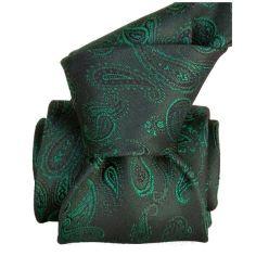 Cravate Segni Disegni LUXE, Faite main, ALEXANDRIE Vert