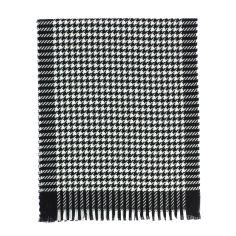 Echarpe carreaux en laine d'Australie, Midlands Noir et Blanc