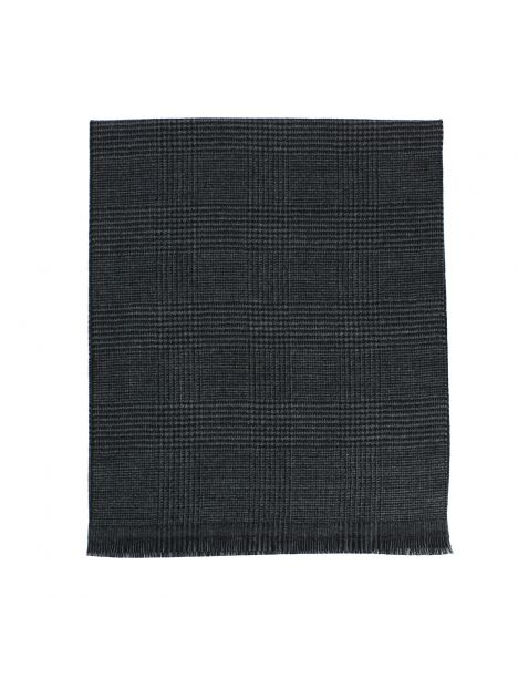 Echarpe STIRLING noire en laine, Bicolore. Tony et Paul