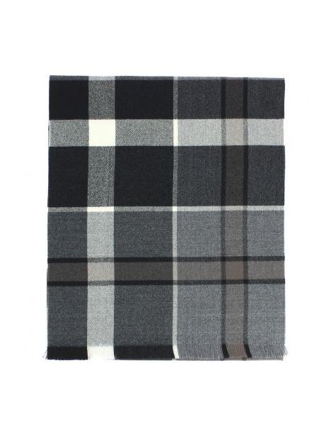 Echarpe en laine d'Australie, ULLAPOOL grise. Tony et Paul