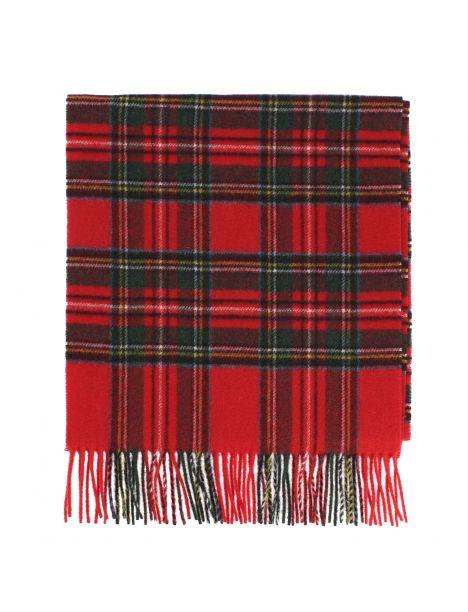 Echarpe GLASGOW II tartan rouge, pure laine, Tony et Paul