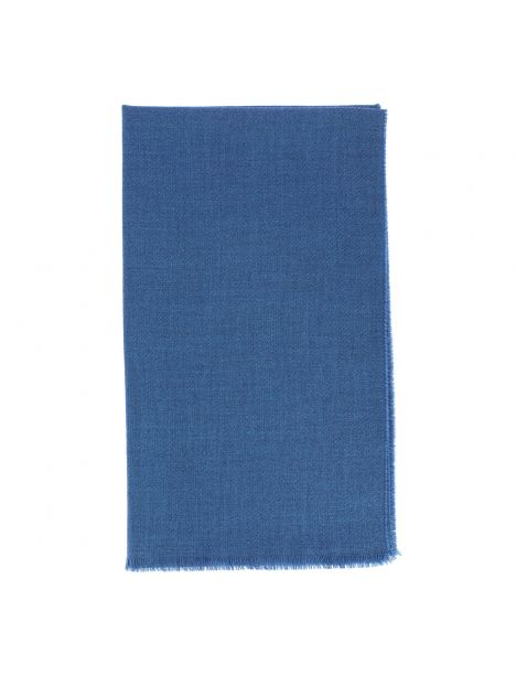 Echarpe WILLIAM bleu profond, pure laine. Tony et Paul