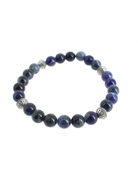 Bracelet perles de sodalite bleues, Simon Carter