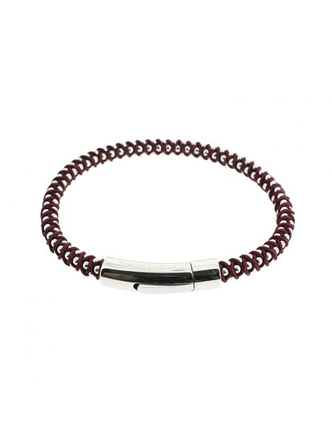 Bracelet Falmouth Bordeaux, Simon Carter