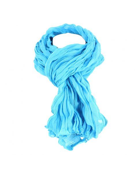 Chèche coton DAKAR, bleu maya