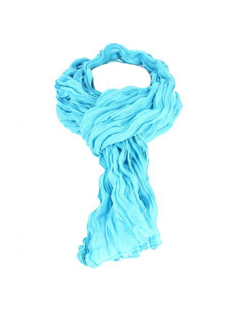 Chèche coton DAKAR, bleu cyan clair