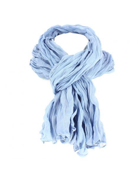 Chèche coton DAKAR, ciel gris bleuté