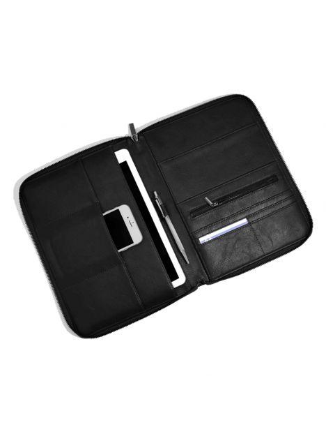 Porte documents et tablettes, Stacker, cuir végétalien noir