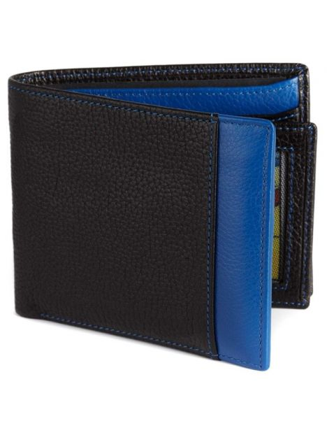 Portefeuille cuir, Simon Carter, Blue Wallet Simon Carter Portefeuille Cuir