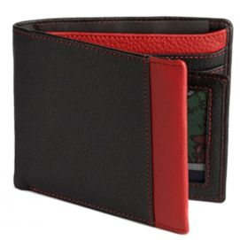 Portefeuille cuir, SIMON CARTER, Red Wallet