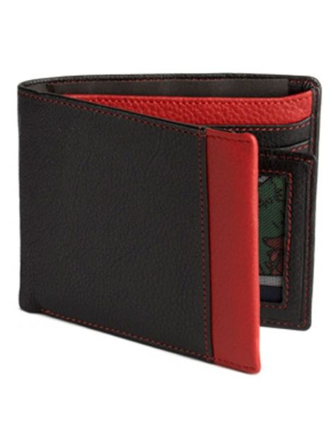Portefeuille cuir, Simon Carter, Red Wallet Simon Carter Portefeuille Cuir