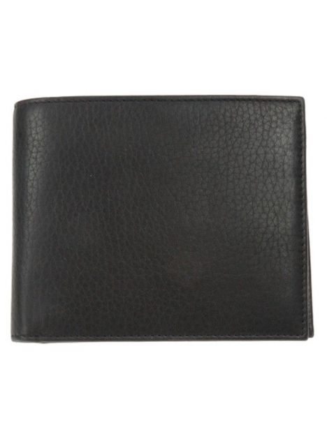 Portefeuille cuir, Simon Carter, Soft Leather coin wallet Black Simon Carter Petite Maroquinerie