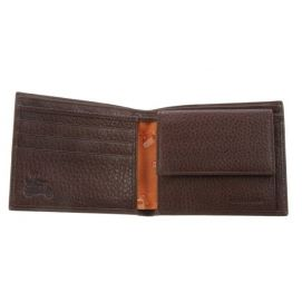 Portefeuille cuir, SIMON CARTER, Soft Leather coin wallet Brown