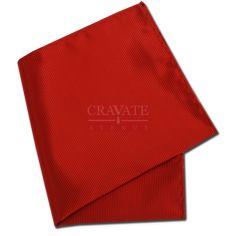 Pochette rouge Richelieu Vermillon