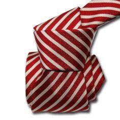 Cravate Classique Segni Disegni, Mogador, Brescia, Rouge