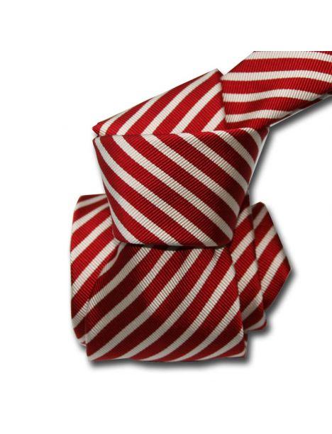 Cravate Luxe Segni Disegni, Mogador, Brescia, Rouge Segni et Disegni Cravates