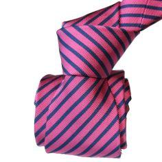 Cravate Luxe Segni Disegni, Mogador, Brescia, Fushia marine