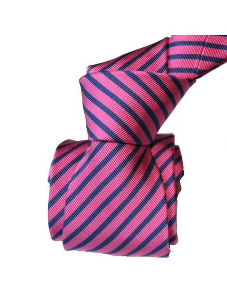 Cravate Luxe Segni Disegni, Mogador, Brescia, Fushia marine Segni et Disegni Cravates