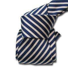 Cravate Luxe Segni Disegni, Mogador, Brescia, Marine Segni et Disegni Cravates