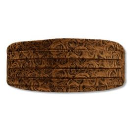 Ceinture de Smoking Rose brown, roses marrons Robert Charles Ceintures