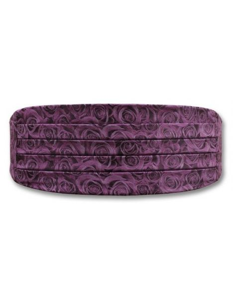 Ceinture de Smoking Rose purple, roses violettes Robert Charles Ceintures