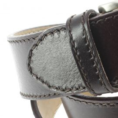 Ceinture cuir, pour Jeans, bords épais, marron