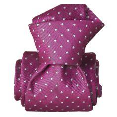 Cravate Segni Disegni LUXE, Faite main, Artemis Aubergine