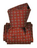 Cravate Segni Disegni LUXE, Faite main, Narcis Marron Segni et Disegni Cravates