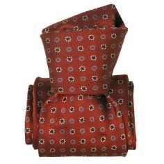 Cravate Segni Disegni LUXE, Faite main, Narcis Marron
