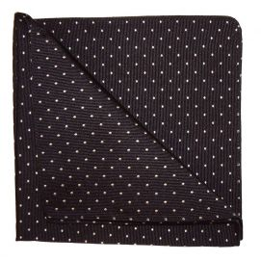 Pochette soie, Spot, noir points blanc
