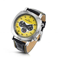 Montre, Kennett, Challenger Jaune chronograph