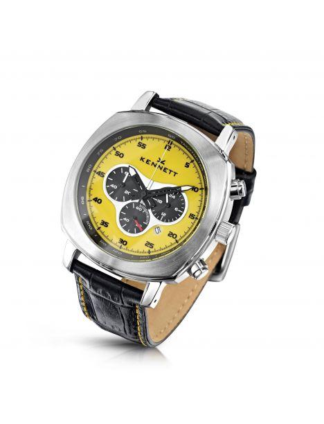 Montre, Kennett, Challenger Jaune chronograph Kennett Montres