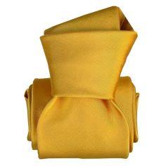 Cravate Classique Segni Disegni, Satin Jaune
