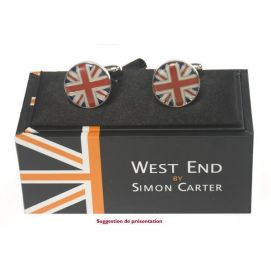 Bouton de manchette Simon Carter, West End, Union Jack Dome