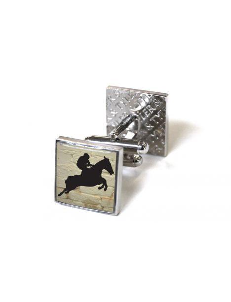 A cheval! Jumper Tyler & Tyler Bouton de manchette