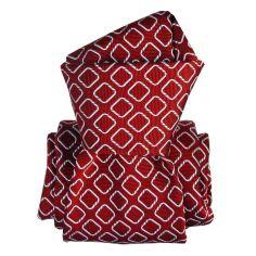 Cravate Segni Disegni LUXE, Faite main, Aramis Rouge