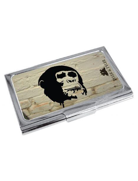 Porte cartes de visite T&T, Cheeky Chimp White WB Tyler & Tyler Porte cartes de visite