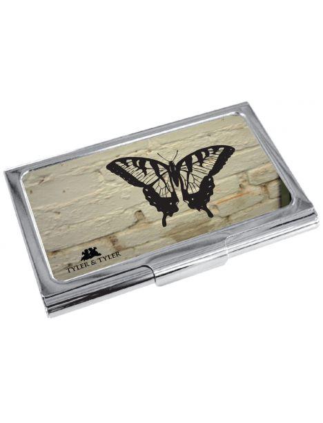 Porte cartes de visite T&T, Butterfly - white brick Tyler & Tyler Porte cartes de visite